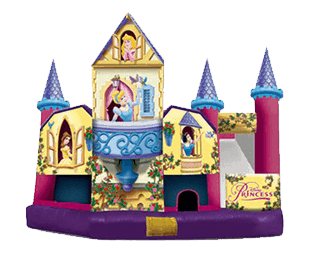 Disney Princes Wet Slide and Bouncy house combo for rent in Orlando and Tampa