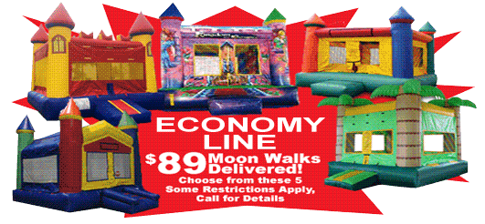 Economy Specials on Bouncy Castles, Bounce Houses and Moonwalks