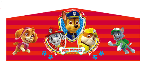 Paw Patrol themed panel for Bouncer