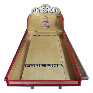 Skee Roll carnival game rental