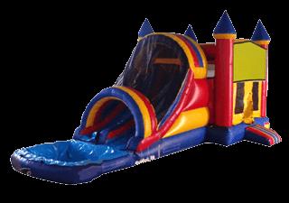 Dual Lane Castle Combo 5-In-1 Wet/Dry Slide combo