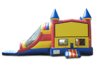 Dual Lane Castle Combo 5-In-1 Wet/Dry Slide Rental