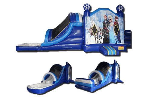 Frozen 5-in-1 Combo Wet/Dry Slide Rental