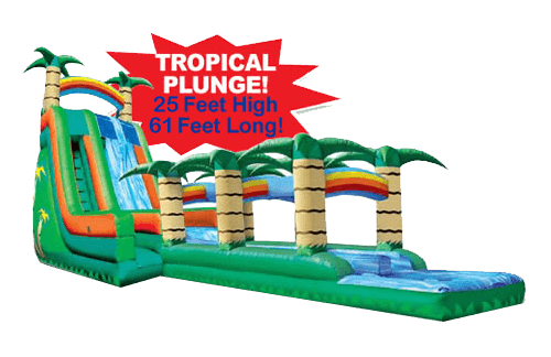 Tropical Plunge wet dry slide for rent