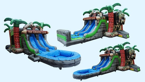 Photo of Jurassic Cave Combo - Dry & Water slide rental inflatable