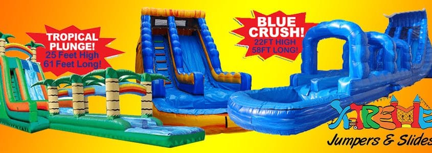 Water slide rentals by Xtreme Jumpers and Slides, Inc.