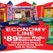 Economy Special on Bounce Houses and Moonwalks