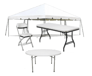 Weddings and Events Tents, Tables and Chairs Rental