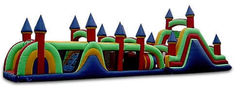 68' Deluxe Obstacle Course for Rent