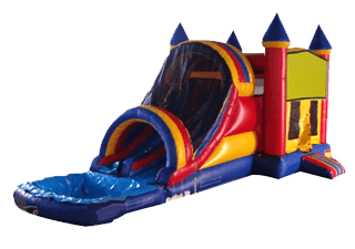 Dual Lane Castle Combo 5-In-1 Wet/Dry Slide combo