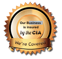We are fully insured and bonded by CIA