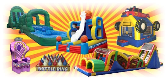 Bounce houses, Inflatable games, and Water slides for rent