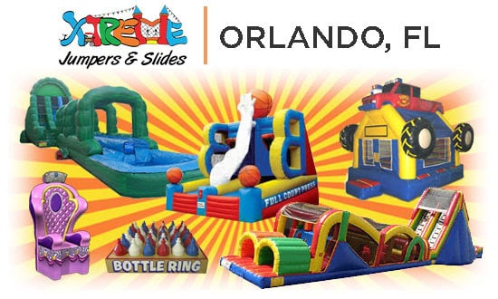 Graphics of bounce house rentals in Orlando fl